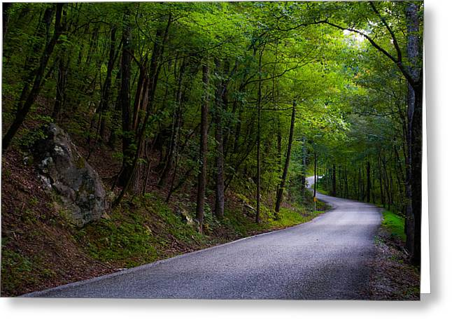 Around The Bend Greeting Card by Shelby  Young