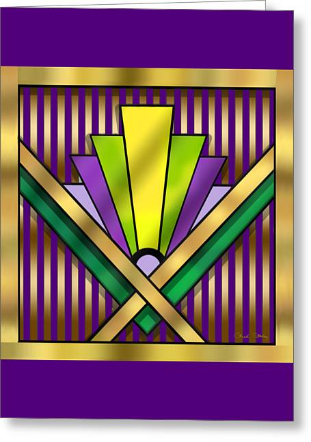 Staley Art Greeting Cards - Art Deco 14 Transparent Greeting Card by Chuck Staley