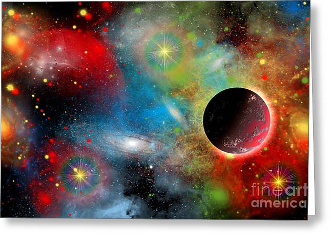 Starbirth Greeting Cards - Artists Concept Illustrating Greeting Card by Mark Stevenson