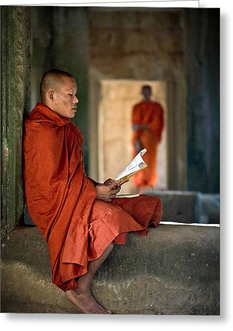 Cambodia Greeting Cards - Aspiration Greeting Card by Brad Grove
