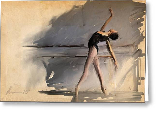At The Barre Greeting Card by H James Hoff