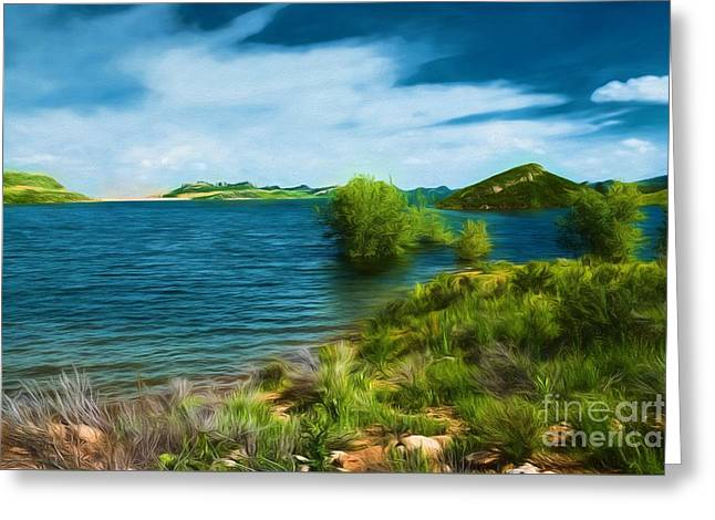 At Waters Edge Greeting Card by Jon Burch Photography