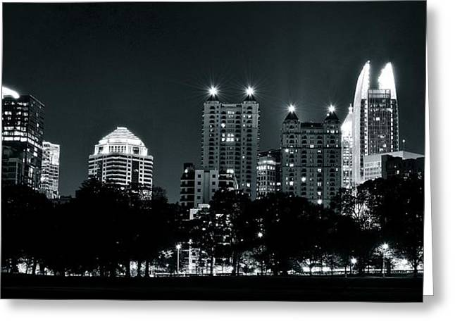 Atlanta Black And White Panorama Greeting Card by Frozen in Time Fine Art Photography