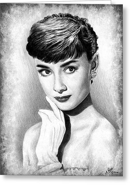 Audrey Hepburn Greeting Card by Andrew Read