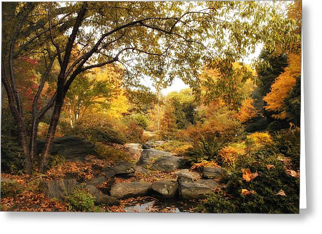 Autumn Landscape Digital Greeting Cards - Autumn Garden Greeting Card by Jessica Jenney