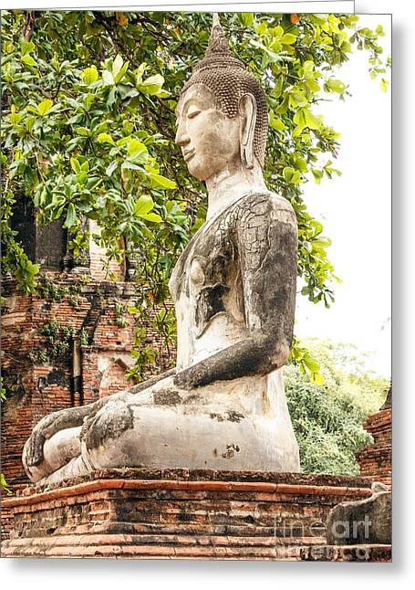 Religion Greeting Cards - Ayuthaya kingdom history Greeting Card by Fineart Photographs