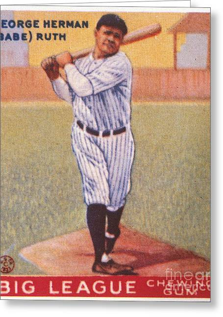 Aodng Greeting Cards - Babe Ruth (1895-1948) Greeting Card by Granger