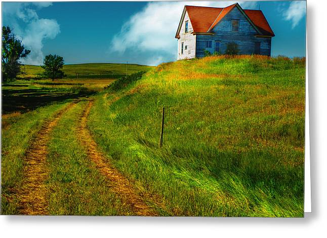 Old Roadway Greeting Cards - Back Home Greeting Card by John Anderson