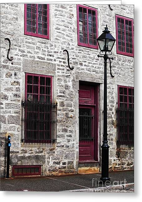 Quebec Province Greeting Cards - Back in Time Greeting Card by John Rizzuto
