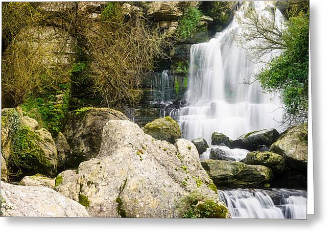 Bajouca Waterfall Greeting Card by Marco Oliveira