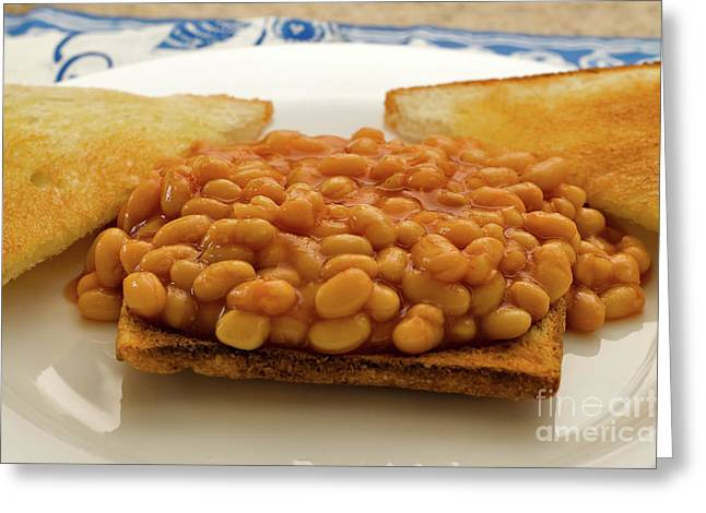 Light Lunch Greeting Cards - Baked Beans on Toast Greeting Card by Louise Heusinkveld