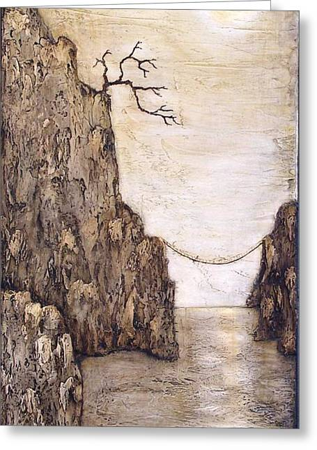 Cliffs Reliefs Greeting Cards - Balancing Act Greeting Card by Linda Carmel