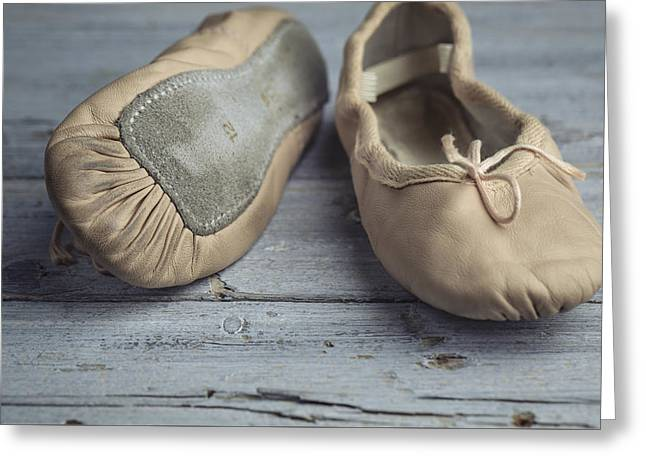 Ballet Shoes Greeting Card by Nailia Schwarz