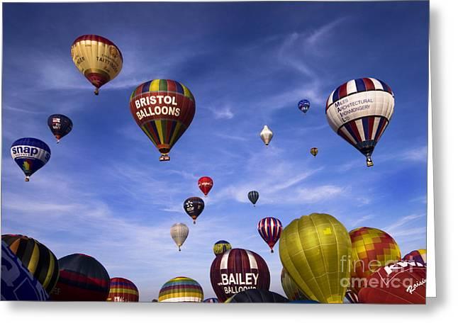 Balloon Fiesta Greeting Cards - Balloon Fiesta Greeting Card by Angel  Tarantella