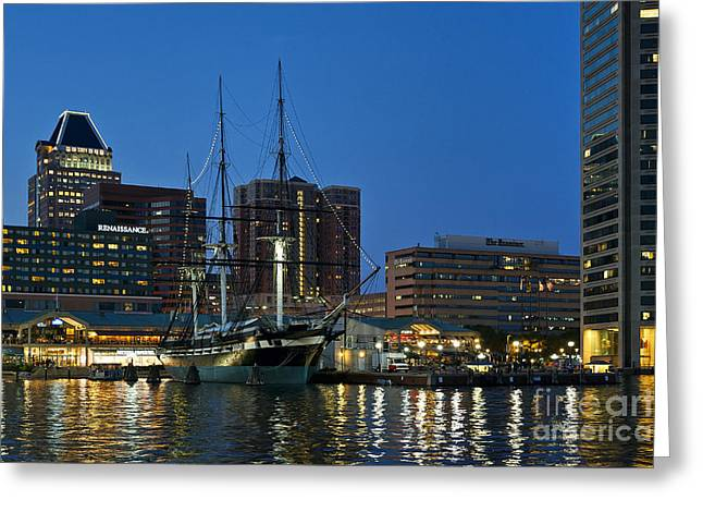 Constellations Greeting Cards - Baltimore Inner Harbor  Greeting Card by John Greim