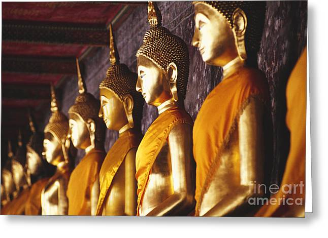 Ancestors Greeting Cards - Bangkok, Wat Suthat Greeting Card by Bill Brennan - Printscapes