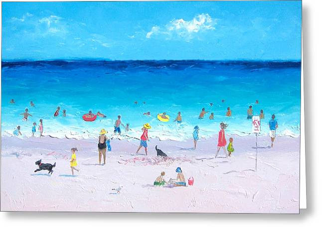 Beach Cottage Style Greeting Cards - Bask in the sunshine Greeting Card by Jan Matson