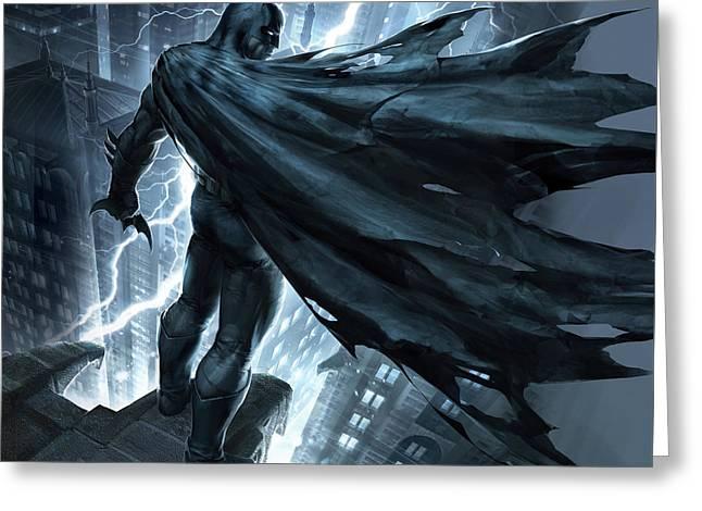 Batman The Dark Knight Returns 2012 Greeting Card by Caio Caldas