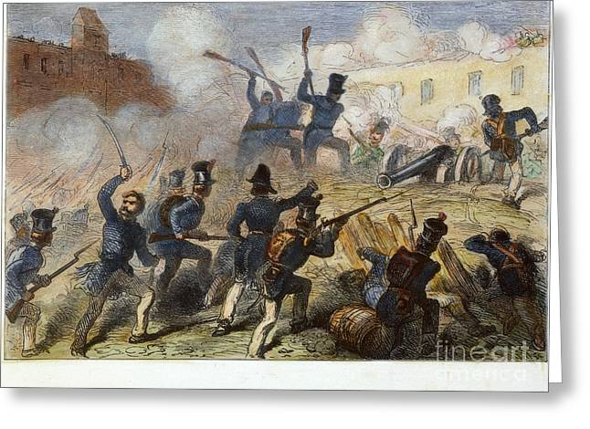 Mesoamerica Greeting Cards - Battle Of Monterrey, 1846 Greeting Card by Granger