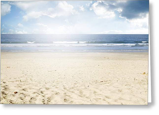 Beach Photograph Greeting Cards - Beach light Greeting Card by Les Cunliffe