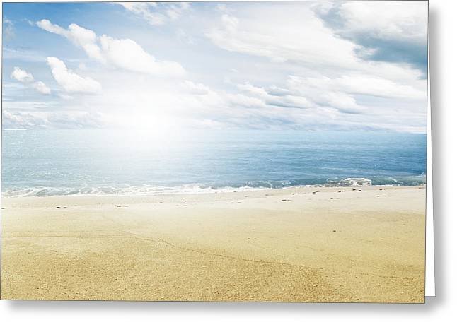 Beach Photograph Greeting Cards - Beach scene Greeting Card by Les Cunliffe