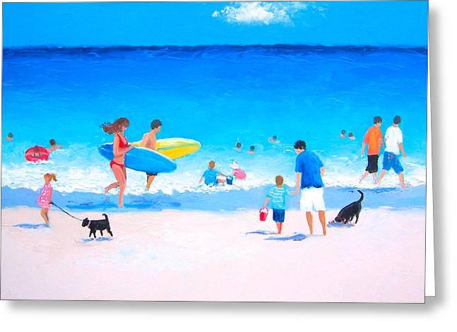 Beach Themed Art Greeting Cards - Beach Vacation Greeting Card by Jan Matson
