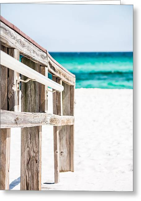 Wooden Stairs Greeting Cards - Beach Walk Greeting Card by Shelby  Young