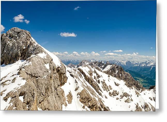 Swiss Photographs Greeting Cards - Beautiful Alpine Mountain Greeting Card by Kamlesh Sethy