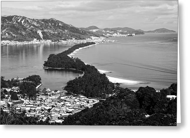 """""""japan City"""" Greeting Cards - Beautiful Kyoto Bay Greeting Card by Qtyqy2250"""