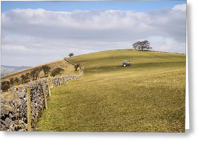 Peak District National Park Greeting Cards - Beautiful Spring landscape of Peak District in UK Greeting Card by Matthew Gibson