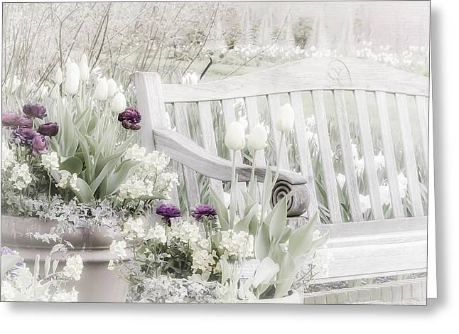 Soft Tones Greeting Cards - Beauty of a Spring Garden Greeting Card by Julie Palencia