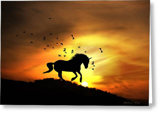 Fun Image Greeting Cards - Believe Greeting Card by Stephanie Laird