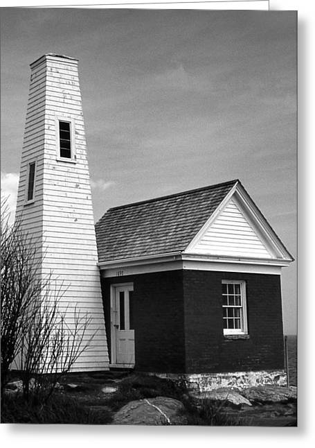 Bell Tower At Pemaquid Greeting Card by Skip Willits