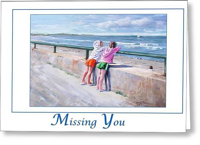 Best Friends Greeting Card by Laura Lee Zanghetti
