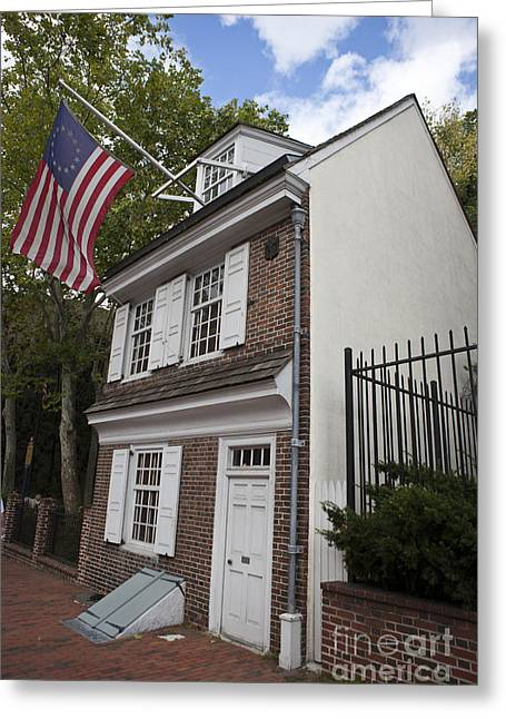 Philadelphia Tourist Site Greeting Cards - Betsy Ross House Philadelphia Pennsylvania Greeting Card by Jason O Watson