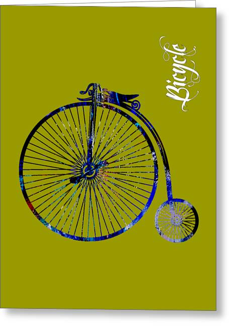 Bicycle Collection Greeting Card by Marvin Blaine