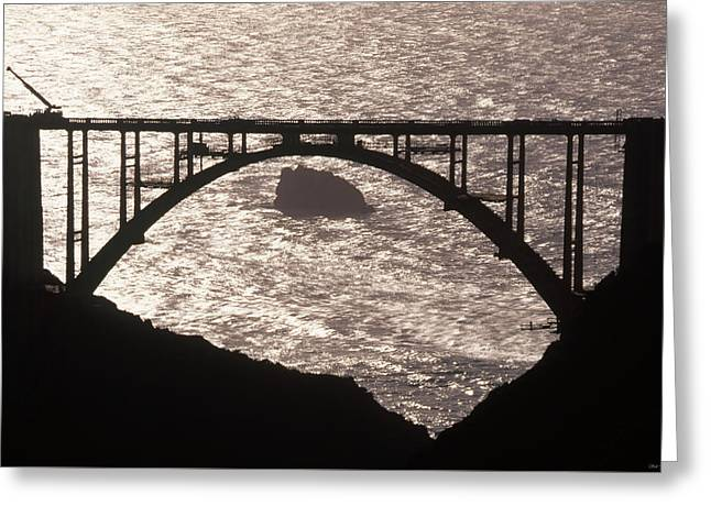 Bixby Bridge - Highway One California Greeting Card by Soli Deo Gloria Wilderness And Wildlife Photography