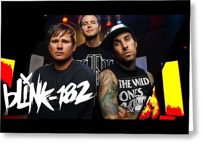 Blink 182 Collection Greeting Card by Marvin Blaine