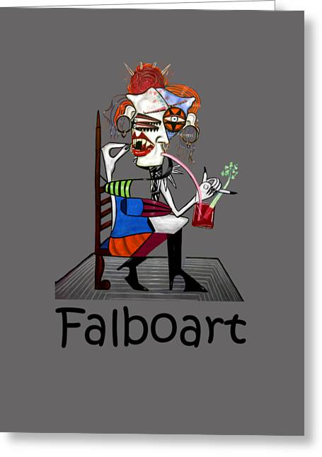 Tattoo Artist Greeting Cards - Bloody Mary Let The Dead Bury The Dead Greeting Card by Anthony Falbo