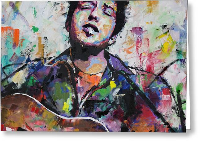 Bob Dylan Greeting Card by Richard Day