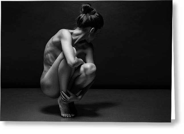 Young Lady Photographs Greeting Cards - Bodyscape Greeting Card by Anton Belovodchenko