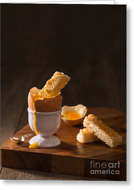 Crumbs Greeting Cards - Boiled Egg Greeting Card by Amanda And Christopher Elwell