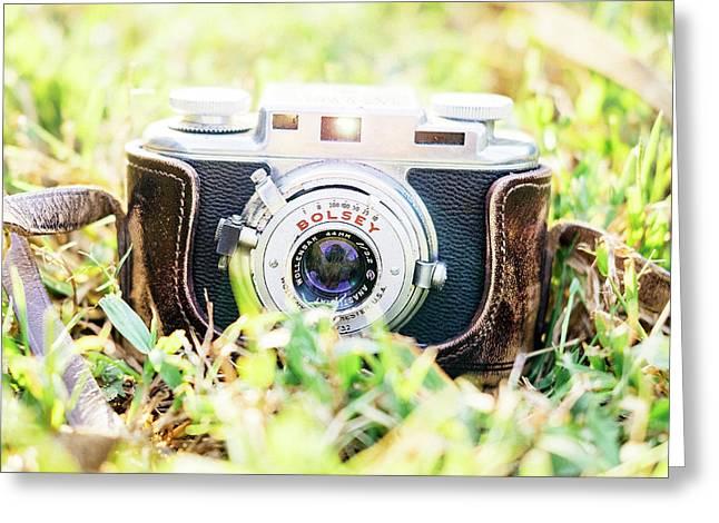 Bolsey B Rangefinder Camera Greeting Card by Jon Woodhams