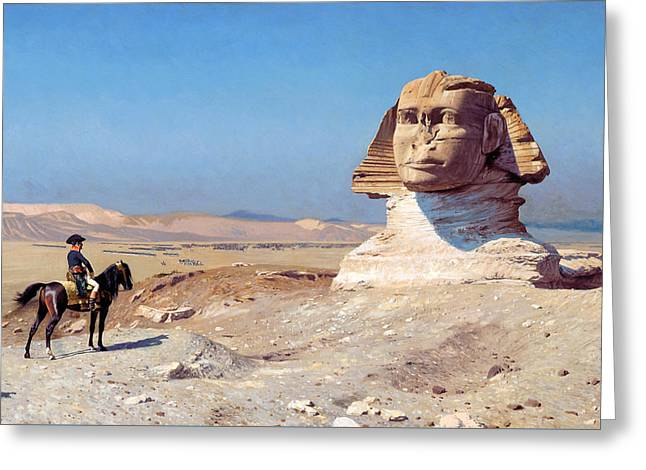 Bonaparte Before The Sphinx Greeting Card by Jean-Leon Gerome