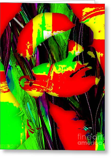 Bono Collection Greeting Card by Marvin Blaine