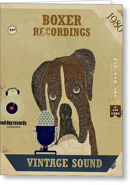 Boxer Digital Greeting Cards - Boxer Records Greeting Card by Bri Buckley