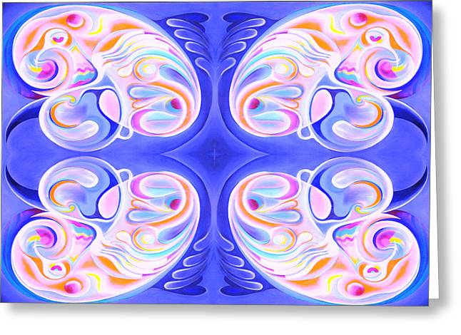 Peace. Tapestries - Textiles Greeting Cards - Breeding Peace Greeting Card by Ky Wilms