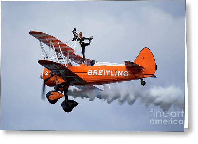 Breitling Wing Walker Greeting Card by Stephen Smith