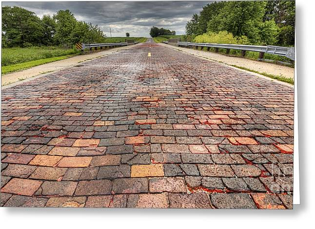 Brick 66 Greeting Card by Twenty Two North Photography