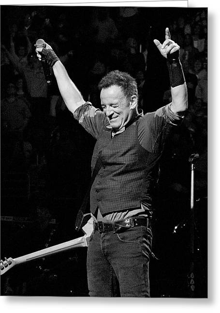 Bruce Springsteen Greeting Card by Jeff Ross